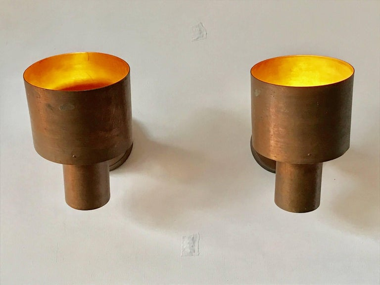 Finnish Paavo Tynell Copper Sconces for Idman For Sale