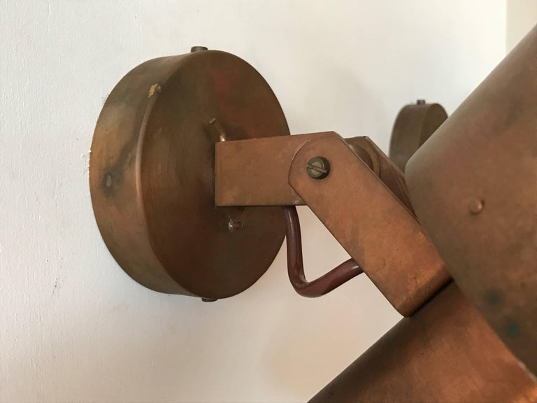 Mid-20th Century Paavo Tynell Copper Sconces for Idman For Sale