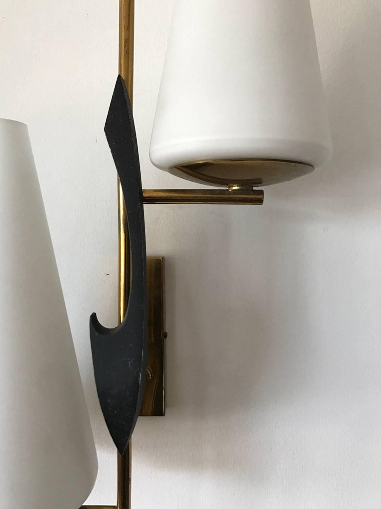 Pair of French Sconces by Maison Arlus For Sale 1
