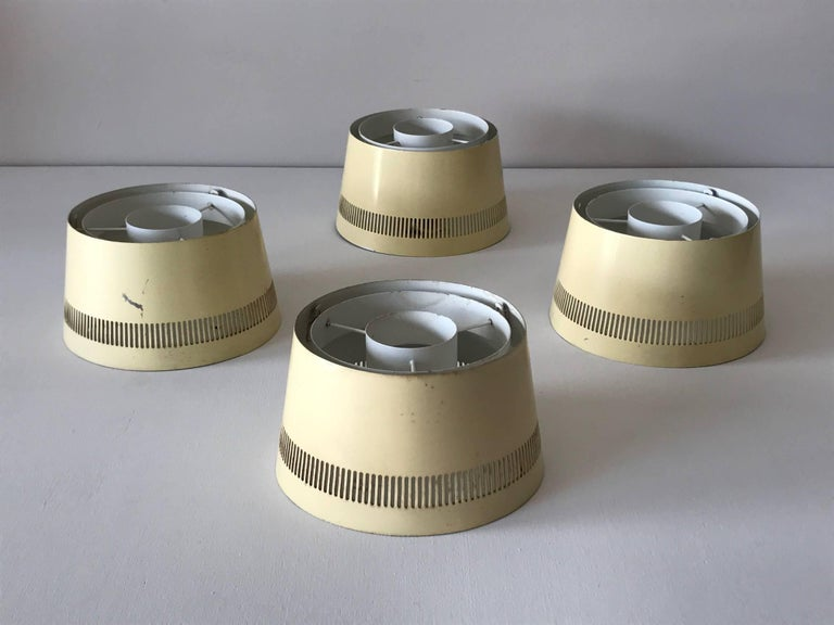 Mid-Century Modern Set of Four Ceiling Lights by Itsu, Finland, 1950s For Sale