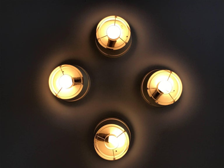 Set of Four Ceiling Lights by Itsu, Finland, 1950s For Sale 1