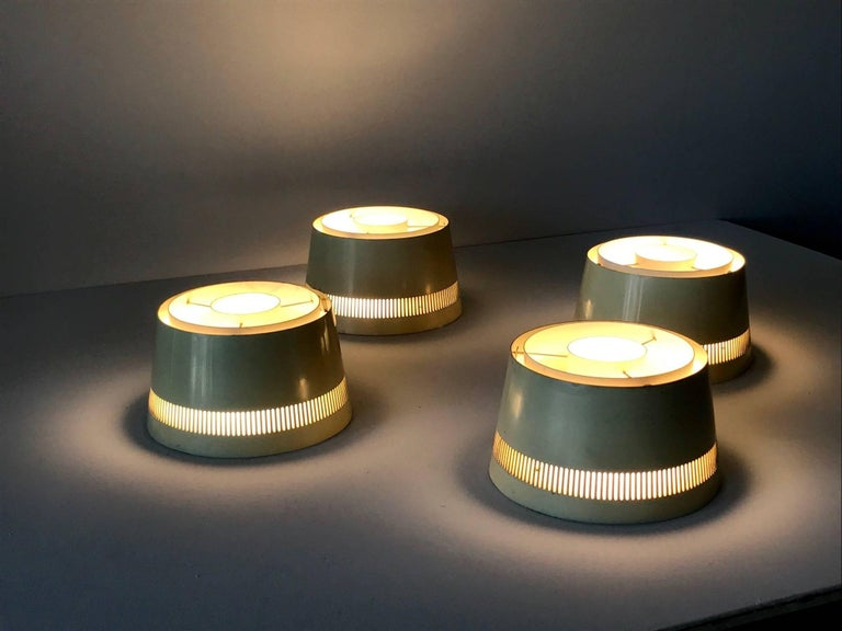 Set of Four Ceiling Lights by Itsu, Finland, 1950s For Sale 3