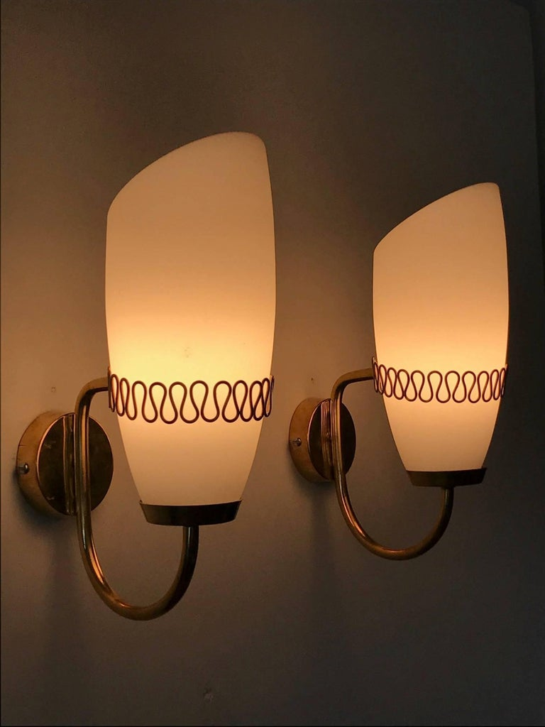 Mauri Almari Brass Sconces for Idman, Finland, 1950s For Sale 1