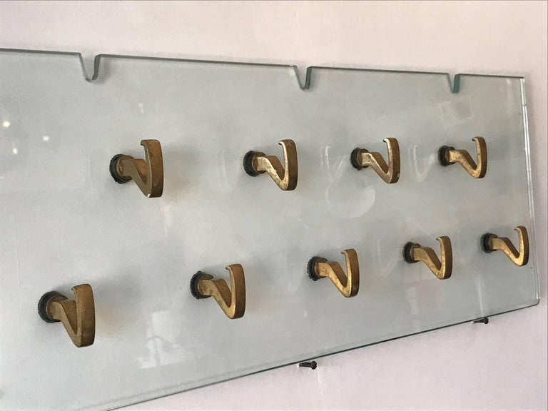 Mid-20th Century Osvaldo Borsani Glass Coat Rack for Tecno For Sale