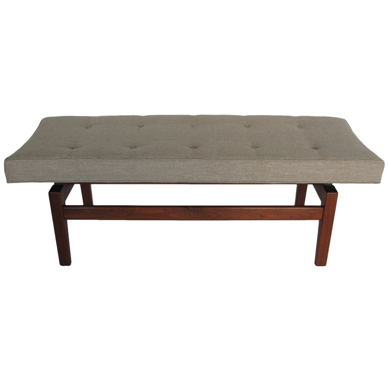 Jens Risom Upholstered Bench For Sale