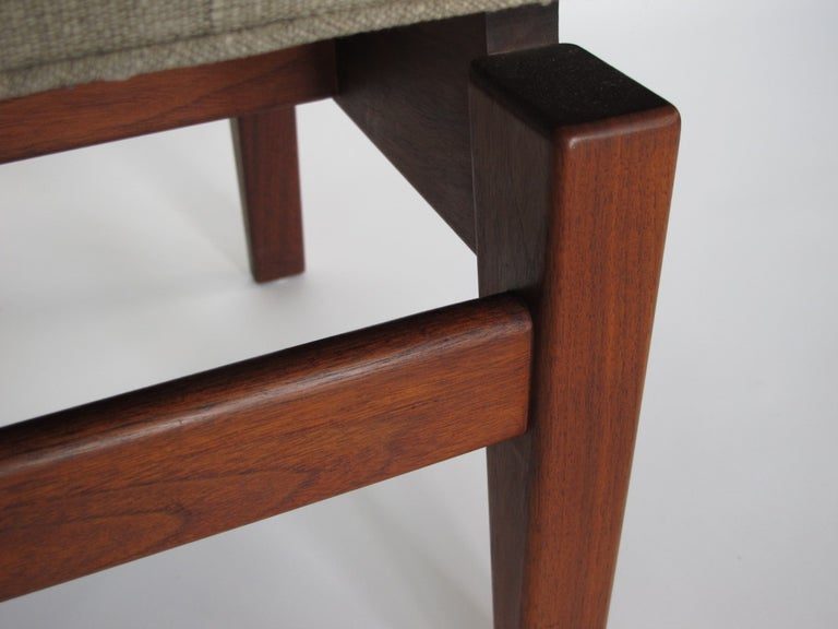 A Classic Jens Risom upholstered bench.