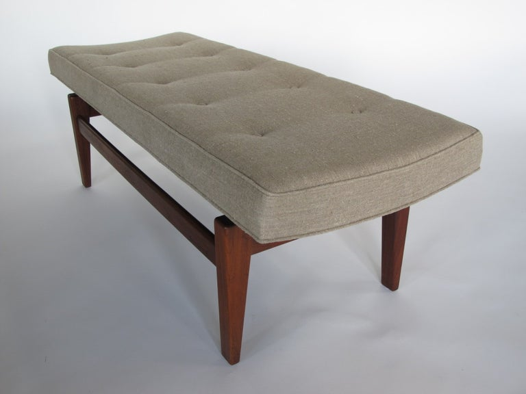 Mid-20th Century Jens Risom Upholstered Bench For Sale