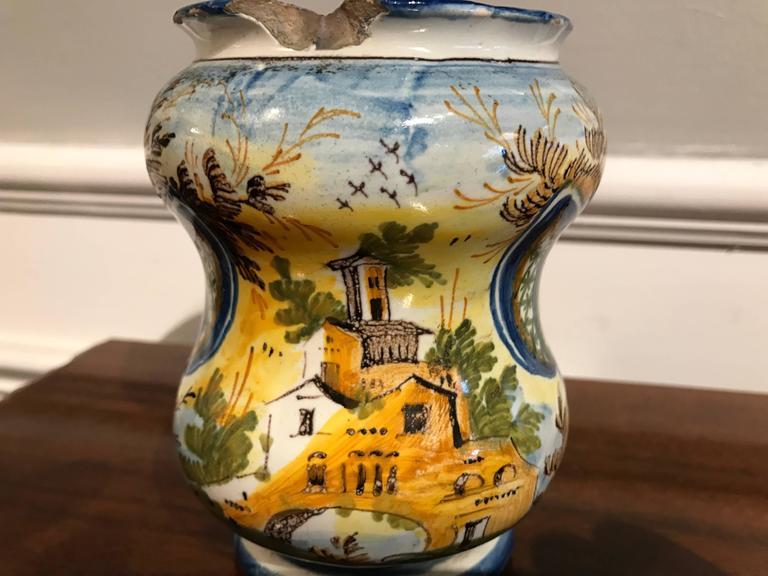 18th Century Italian Waisted Albarello For Sale 2