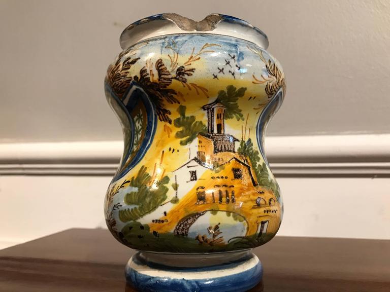 18th Century Italian Waisted Albarello For Sale 1