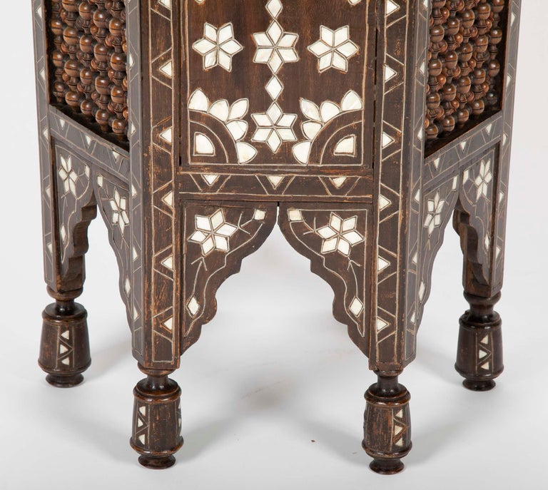 Ottoman Mother-of-Pearl and Bone Inlaid Side Table For Sale 1