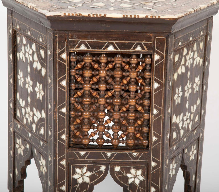 Ottoman Mother-of-Pearl and Bone Inlaid Side Table For Sale 3