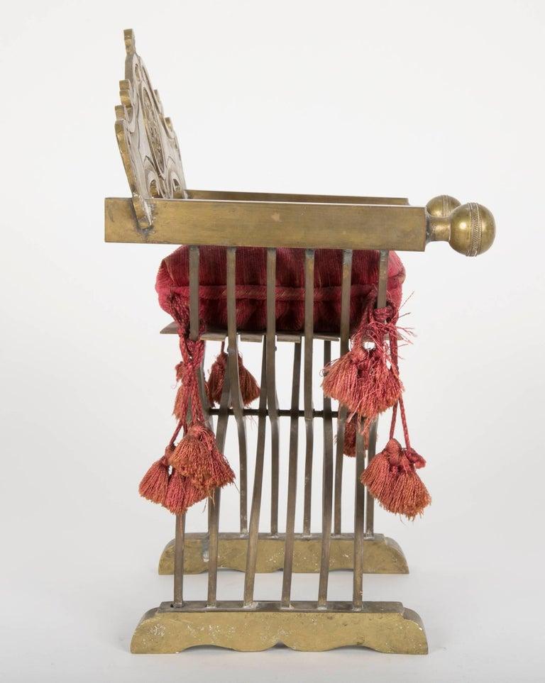 Italian Grand Tour Miniature Bronze Savonarola Chair For Sale