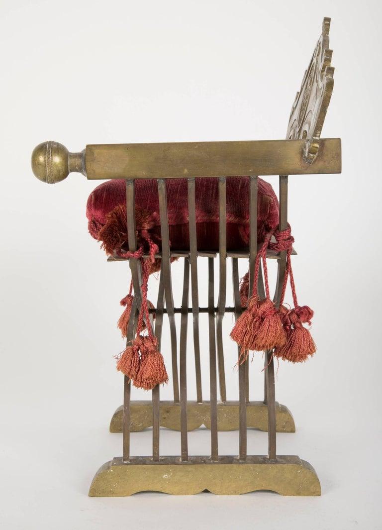 Grand Tour Miniature Bronze Savonarola Chair For Sale 2