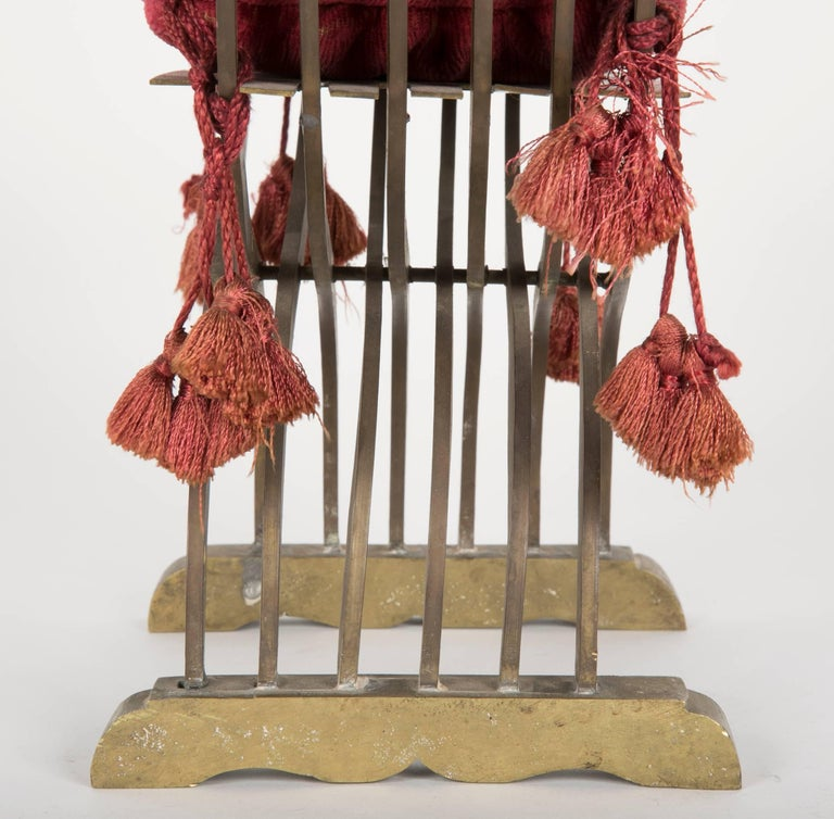 Grand Tour Miniature Bronze Savonarola Chair For Sale 3