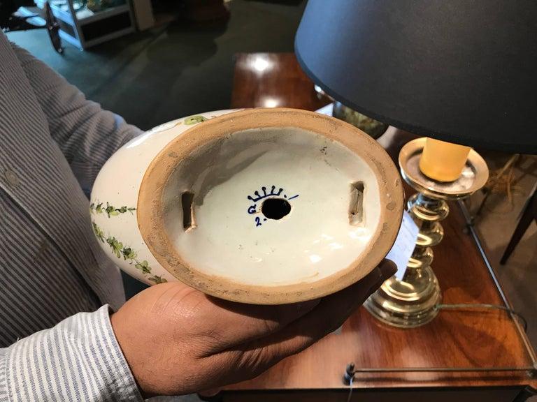 Pair of Italian Majolica Glazed Ceramic Ginori Lamps For Sale 5