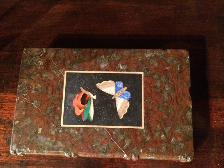 Pietra Dura Butterfly Paperweight At 1stdibs