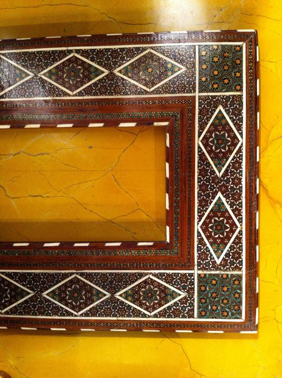 19th Century Anglo-Indian Inlaid Frame For Sale