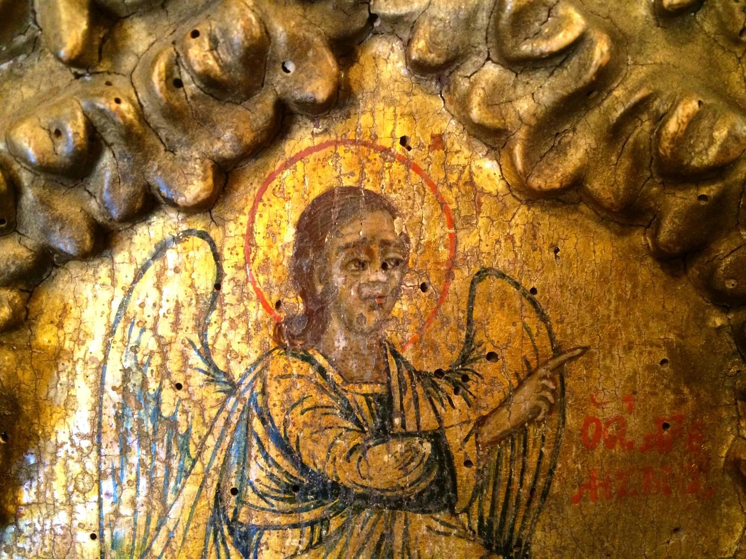 17th century italian panel painting angel of the for Angel paintings for sale