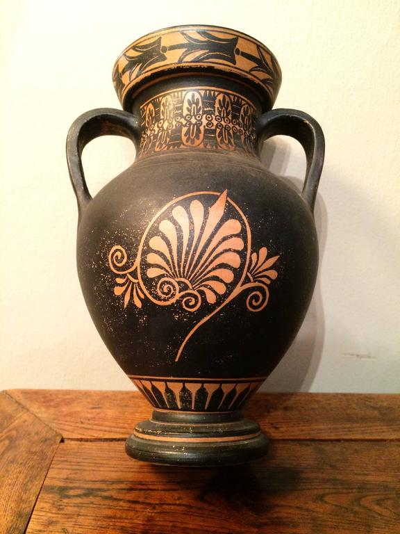 20th Century Classical Style Greek Vase with Neptune For Sale