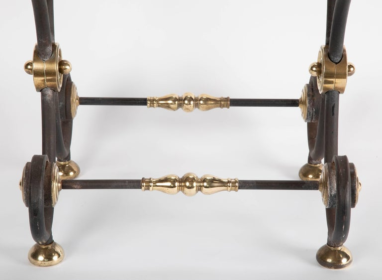 French Iron and Brass Side Table For Sale 5