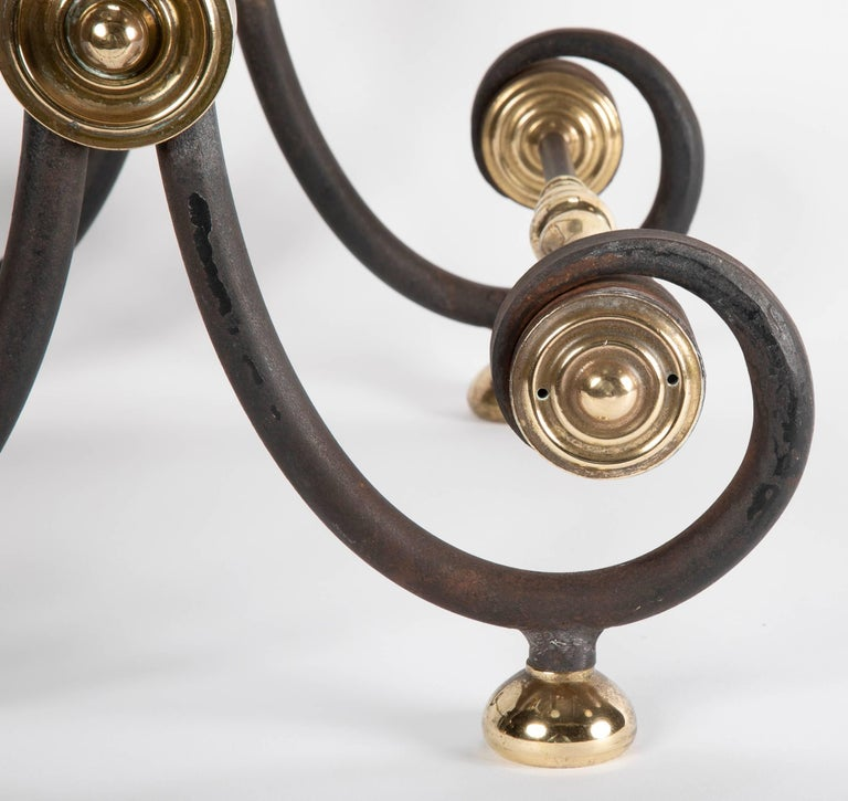 French Iron and Brass Side Table For Sale 3