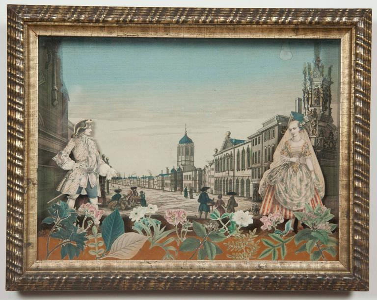 Louis XV 18th Century French Diorama, Christ Church, Oxford For Sale