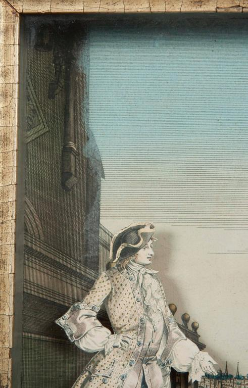 18th Century French Diorama, Christ Church, Oxford For Sale 3