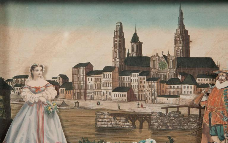 18th Century French Diorama, View of Rouen Cathedral For Sale 2