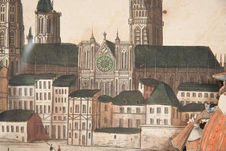 18th Century French Diorama, View of Rouen Cathedral For Sale 5