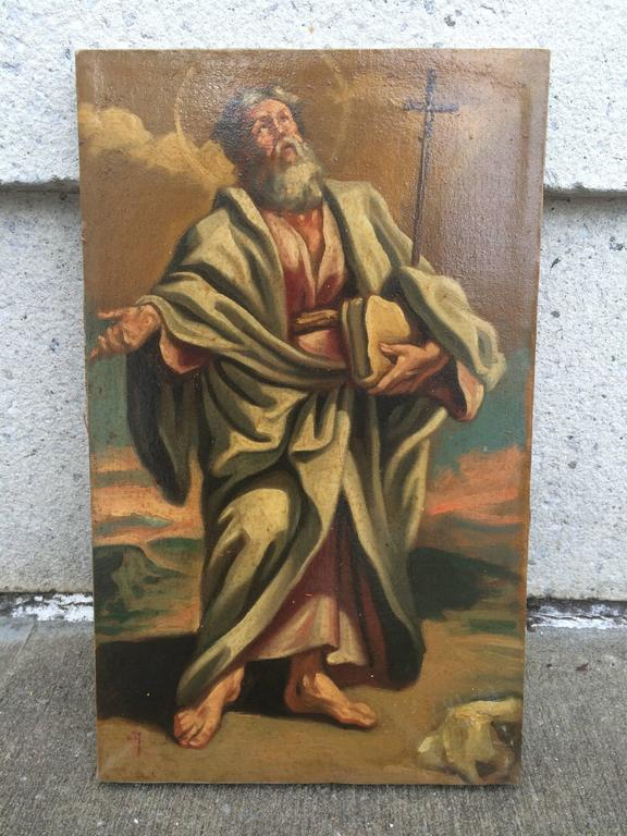Italian Baroque Set of the 12 Apostles, Oil on Canvas In Excellent Condition For Sale In Stamford, CT