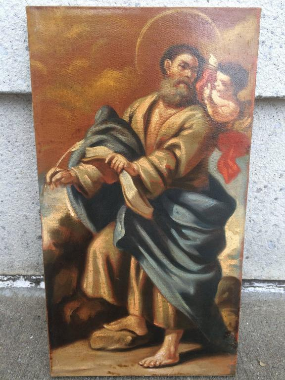 18th Century and Earlier Italian Baroque Set of the 12 Apostles, Oil on Canvas For Sale