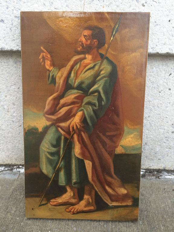 Italian Baroque Set of the 12 Apostles, Oil on Canvas For Sale 1