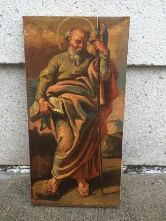 Italian Baroque Set of the 12 Apostles, Oil on Canvas For Sale 3