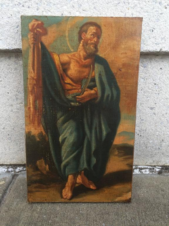 Italian Baroque Set of the 12 Apostles, Oil on Canvas For Sale 4