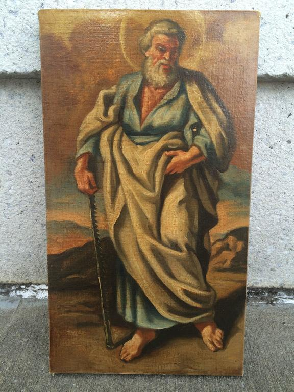 Italian Baroque Set of the 12 Apostles, Oil on Canvas For Sale 5