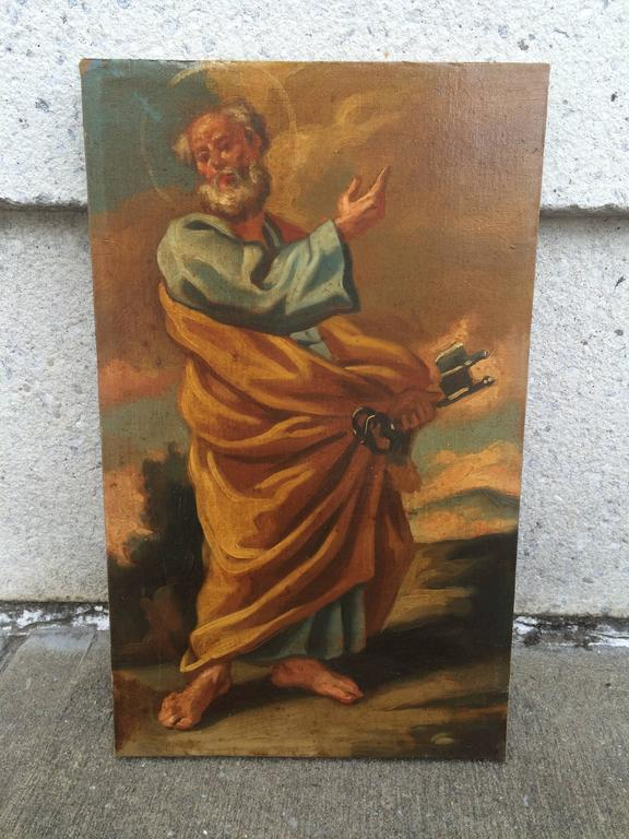 Italian Baroque Set of the 12 Apostles, Oil on Canvas For Sale 6