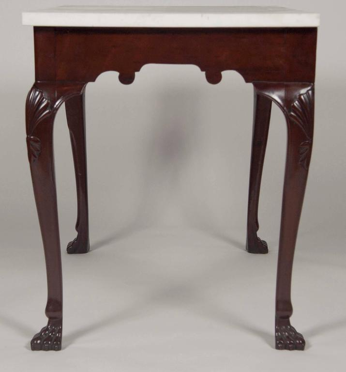 Irish Mahogany Marble Top Console Table For Sale At 1stdibs