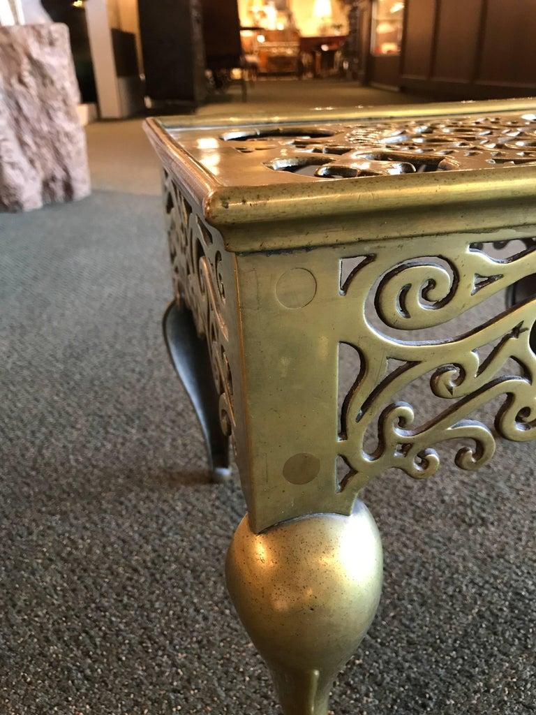 English Regency Brass Footman Side Table For Sale 2