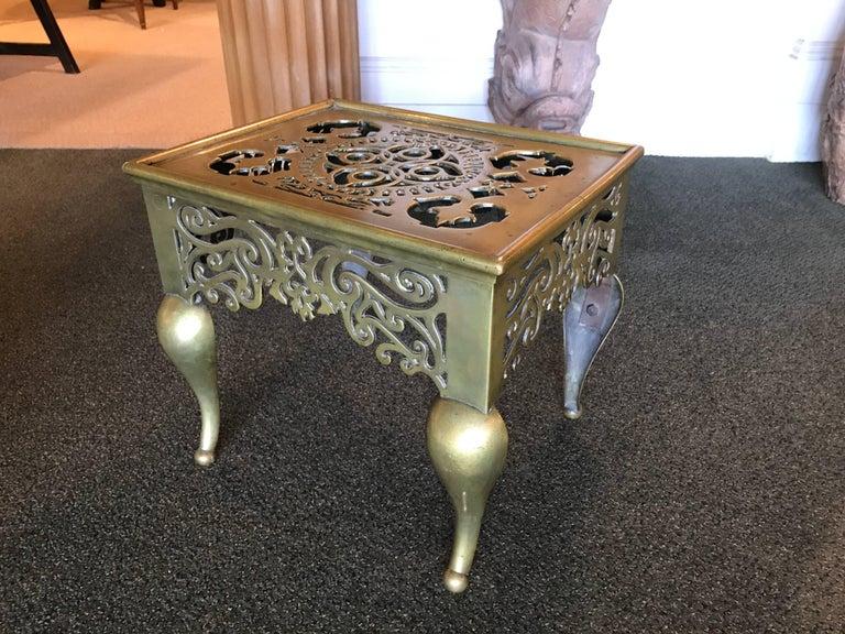 English Regency Brass Footman Side Table For Sale 4