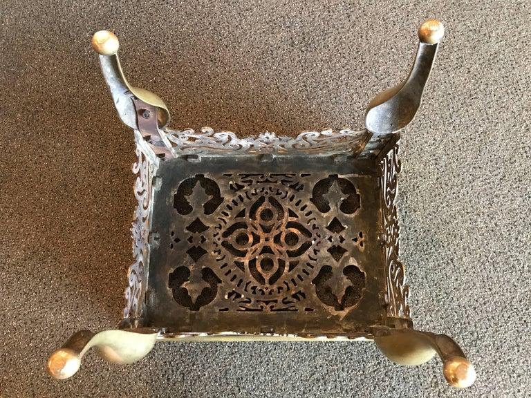 English Regency Brass Footman Side Table For Sale 6