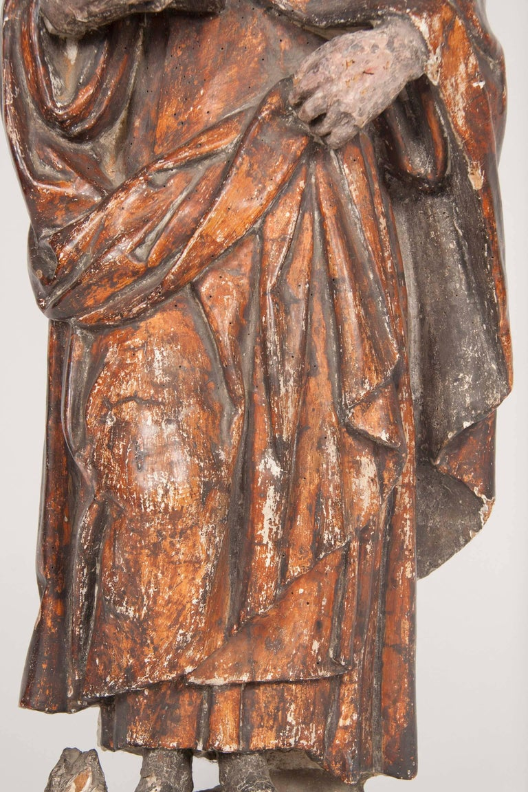 Italian Renaissance Carving of a Male Saint For Sale 2