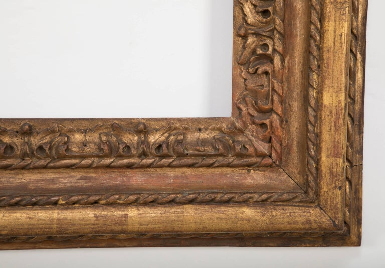 19th Century Italian Giltwood Mirror Frame, Large-Scale For Sale