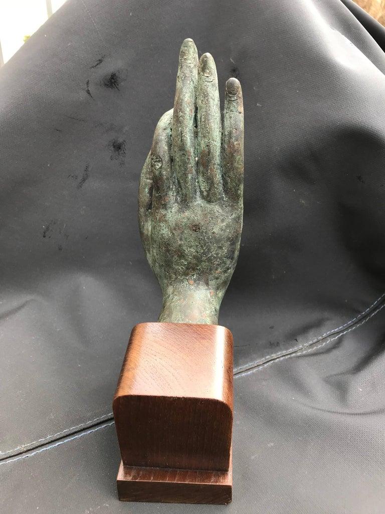 Bronze Hand of Buddha in the Vitarka Mudra, Thailand  For Sale 1