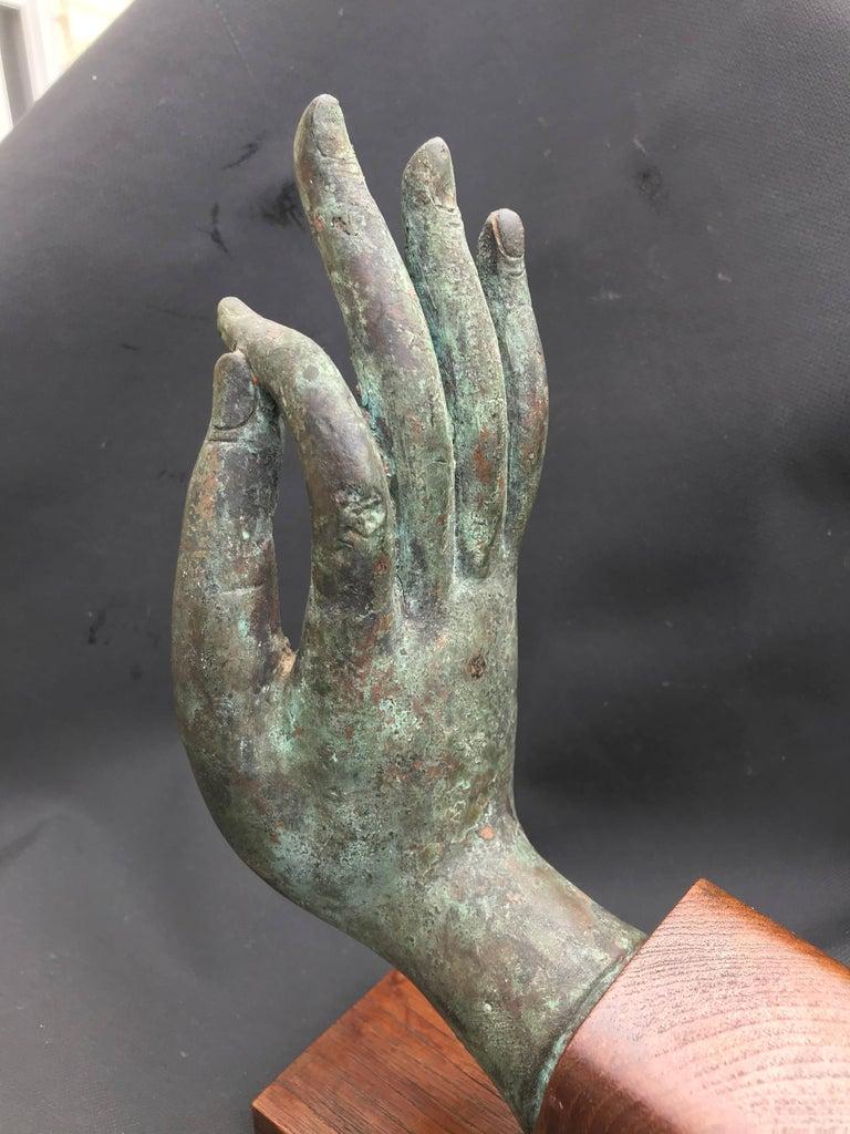 Bronze Hand of Buddha in the Vitarka Mudra, Thailand  For Sale 3