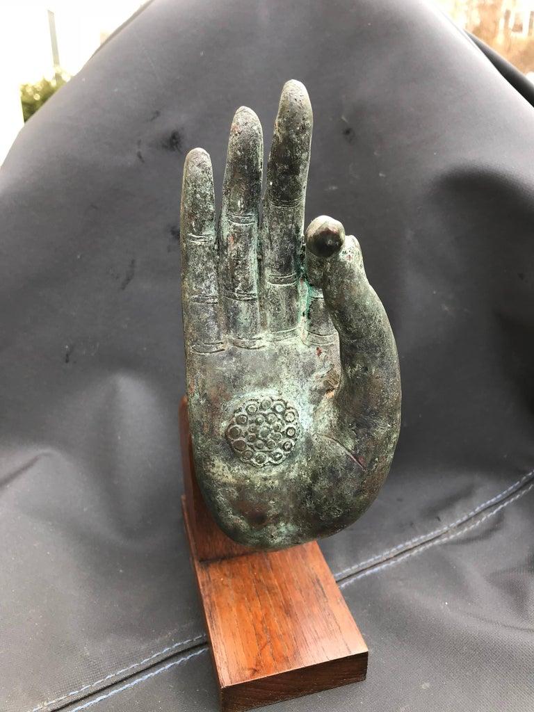 Bronze Hand of Buddha in the Vitarka Mudra, Thailand  For Sale 5