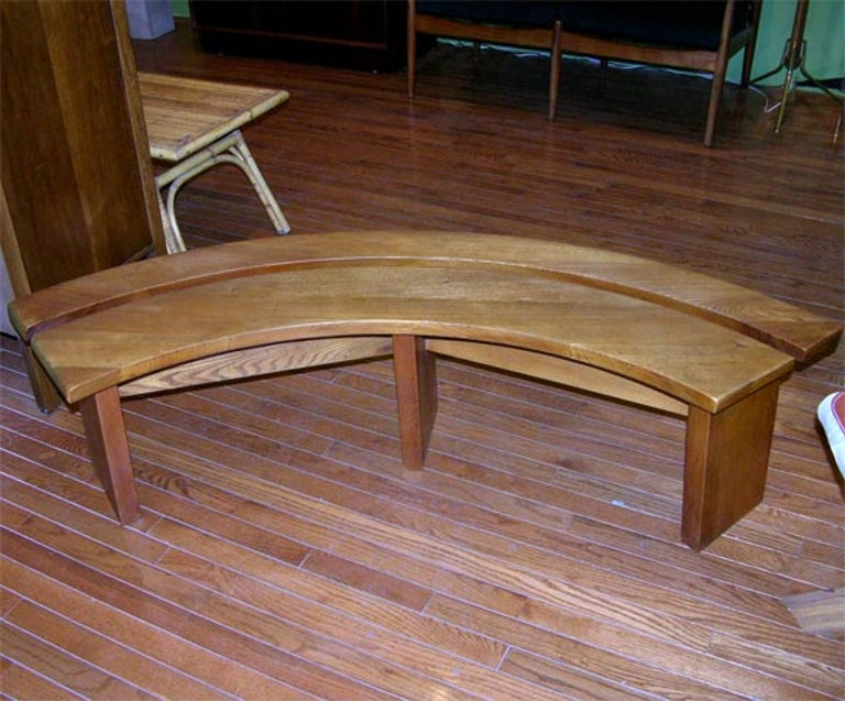 Five-Piece Oak Dining Set by Pierre Chapo In Excellent Condition For Sale In Brooklyn, NY