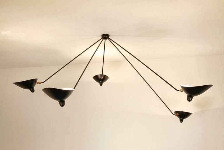 Licensed re-edition produced by the family of Serge Mouille on the site of his original workshop.