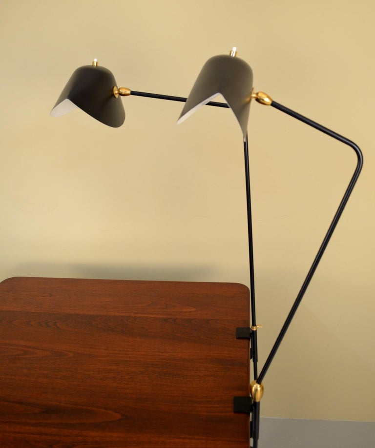 Mid-Century Modern Agrafee Desk Lamp by Serge Mouille For Sale
