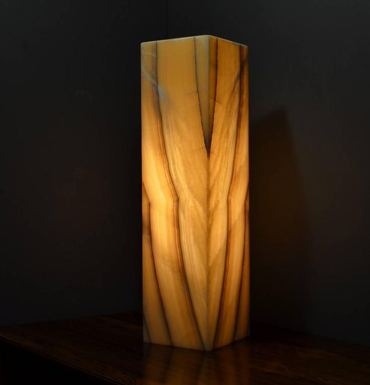 Modern Ambient Table Lamp in Onyx For Sale