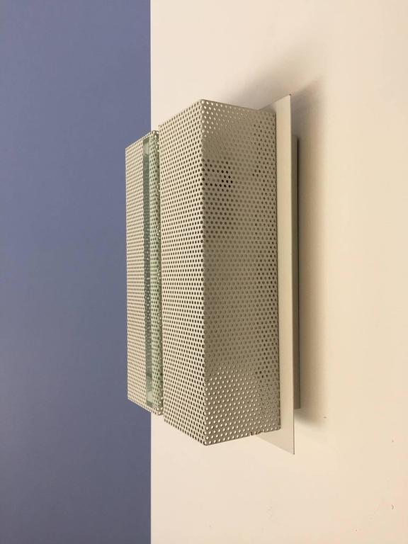 Mid-Century Modern Wall Sconce with Perforated Metal For Sale